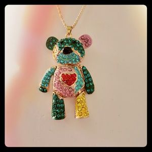 "Betsey Johnson colorful lg bear 2.75"""